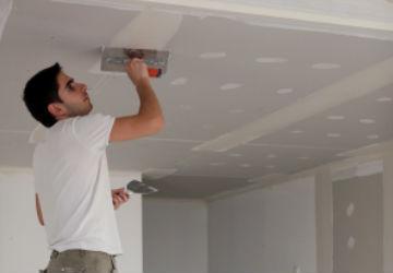 תיקון תקרה בלובי של בניין