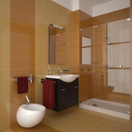 חדר אמבטיה לאחר שיפוץ ועיצוב